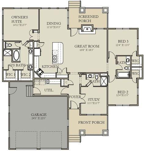 Plan W25402tf Craftsman Prairie Style Northwest House Plans Home Designs Picmia Floor Plans Small House Plans House Plans
