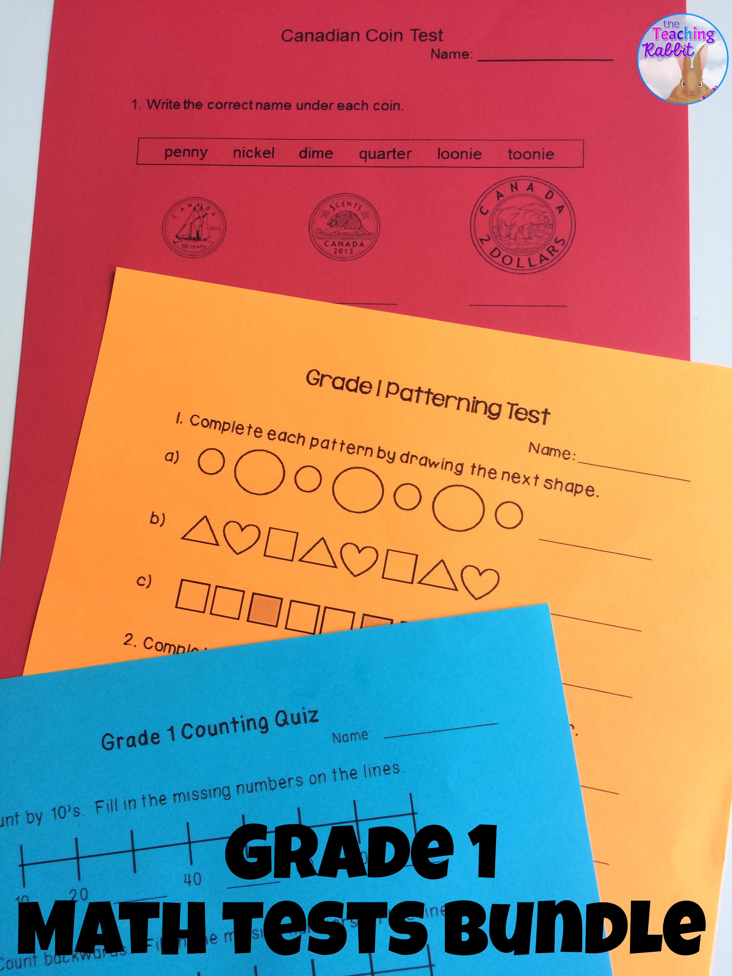 Grade 1 Math Tests Bundle (Based on Ontario Curriculum) | Pinterest ...