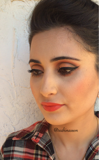 Orange Inspired Makeup with 3 lip options  drugstore products maybelline NYX physicians formula