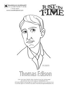 Free Coloring Page Friday Thomas Edison With Images Free Coloring Pages Coloring Pages Free Coloring