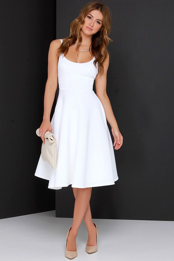716e684201 perfect classic white midi dress    love this for Independence Day   4thofjuly