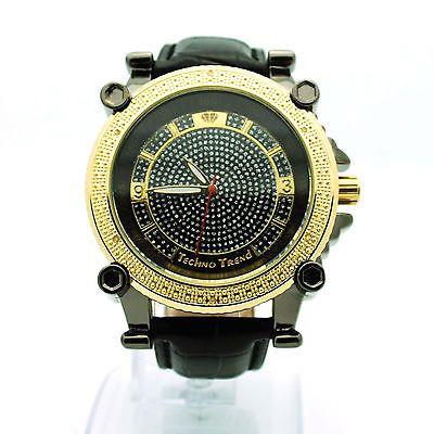 Techno Trend Bling Baller Luxury Fashion Leather Band Analog Round Wrist Watch | eBay