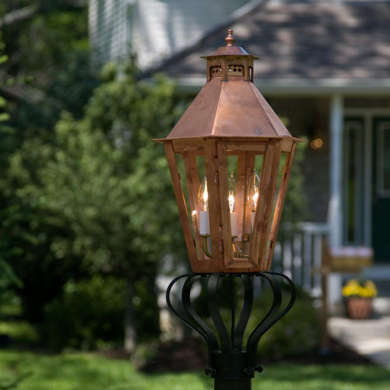 Corvino Post Mount Electric Lantern
