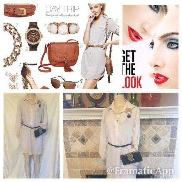 Belted dress Dress, belt and shoes. Dress(small)shoes (8) Mango Basics Dresses Mini