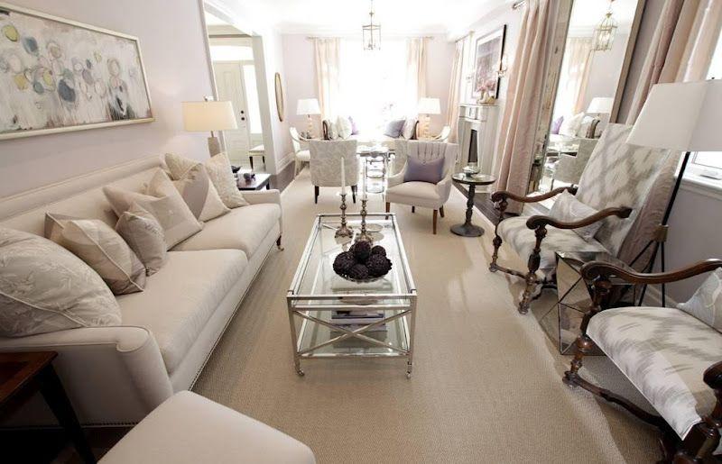 Long Narrow Neutral Living Room Long Narrow Living Room