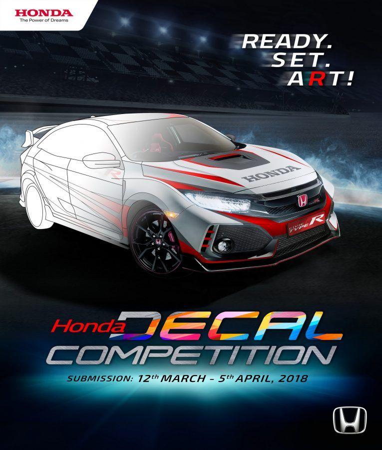 Lomba Mewarnai Digital Di Bodi Honda Civic Type R Honda Civic Honda Mobil