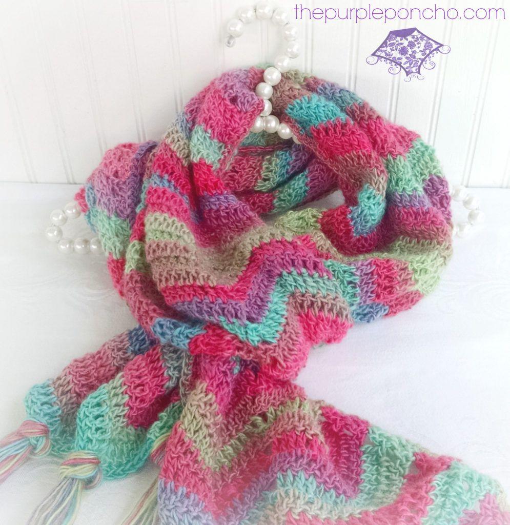 Perfecto Patrón De Crochet Libre De Chevron Imágenes - Manta de ...