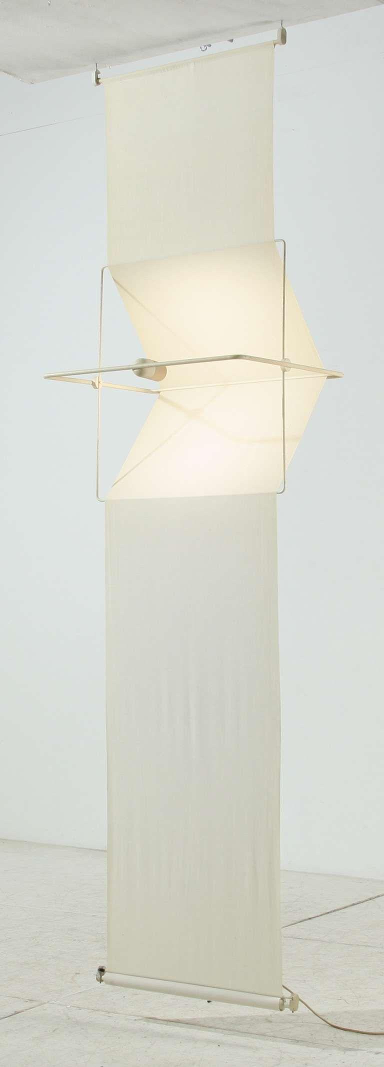 Rare 'Quinta' Lamp and Room Divider by Silvio Coppola, Artemide, Italy, 1970s