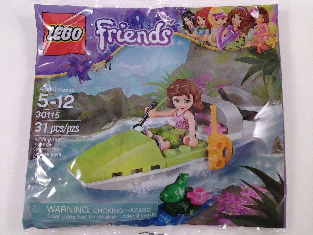 Lego Friends Polybag OLIVIA/'S JUNGLE BOAT Set # 30115 Sealed bag