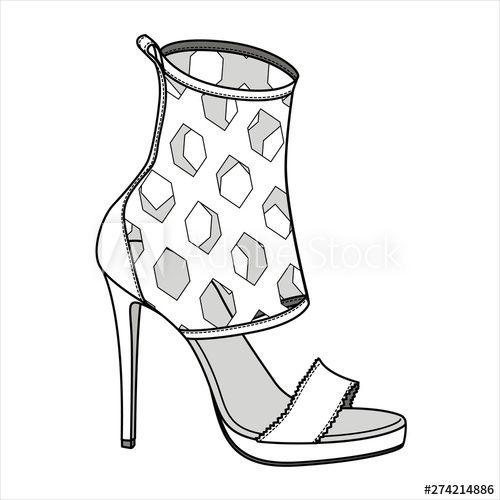 Isolated Illustration Shoe Icon Design Footwear Fashion Boot Symbol Clothing Sign Shoe Design Sketches Shoes Illustration Fashion Illustration Shoes