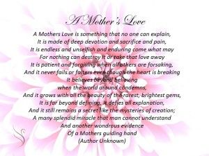 Funeral Poem Mothers Love. A Mother's Love is something that no ...