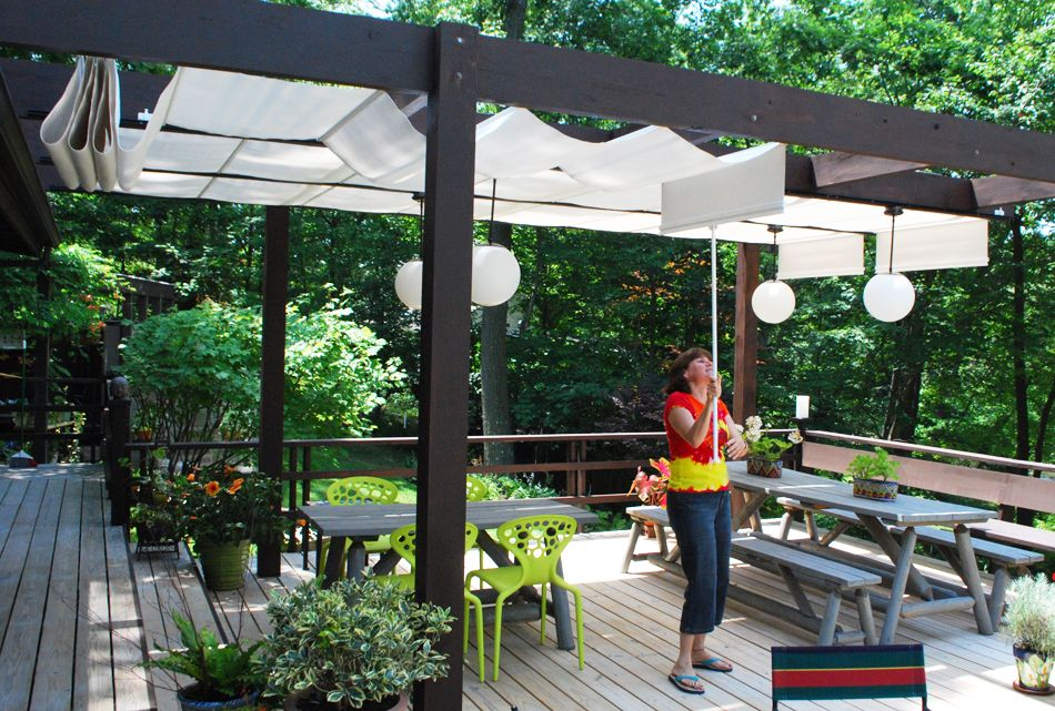 Shadetree Canopies On A Deck Pergola Daybed Canopy Pergola