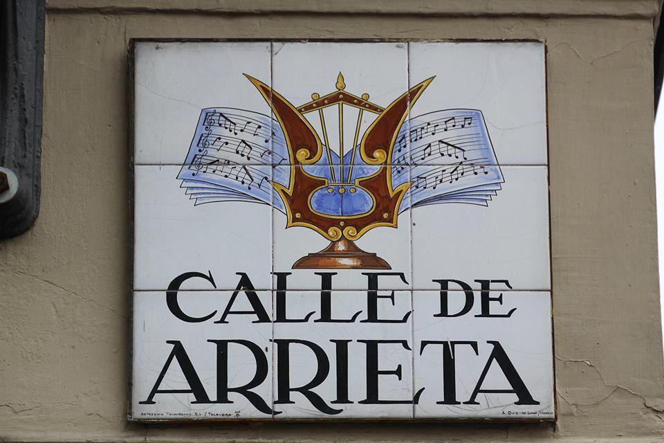Calle de Arrieta  Madrid   Rtulos de calles de Madrid