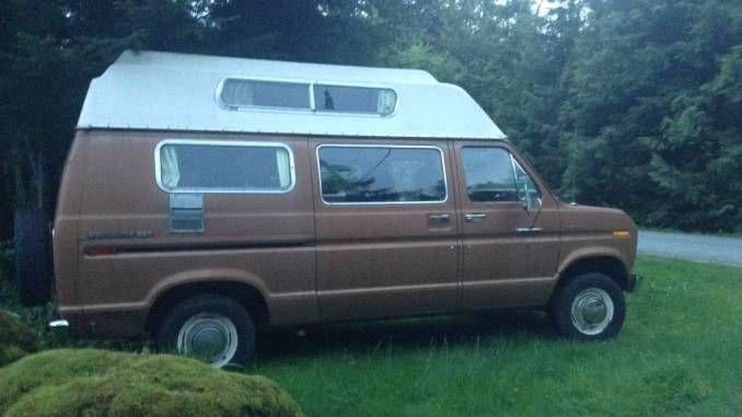 1975 Ford Econoline 250 Camper Van For Sale In Mission Bc Van