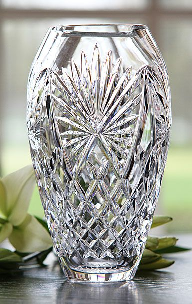 Waterford Newgrange 9in Vase Limited Edition By Jim O Leary Waterford Crystal Patterns Crystal Vase Crystal Glassware