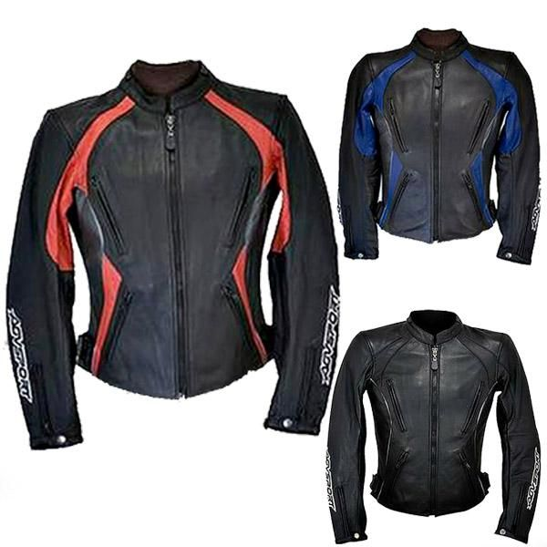 compacc.com AGVSport Venus Womens Leather Jackets - Black Blue Red ...