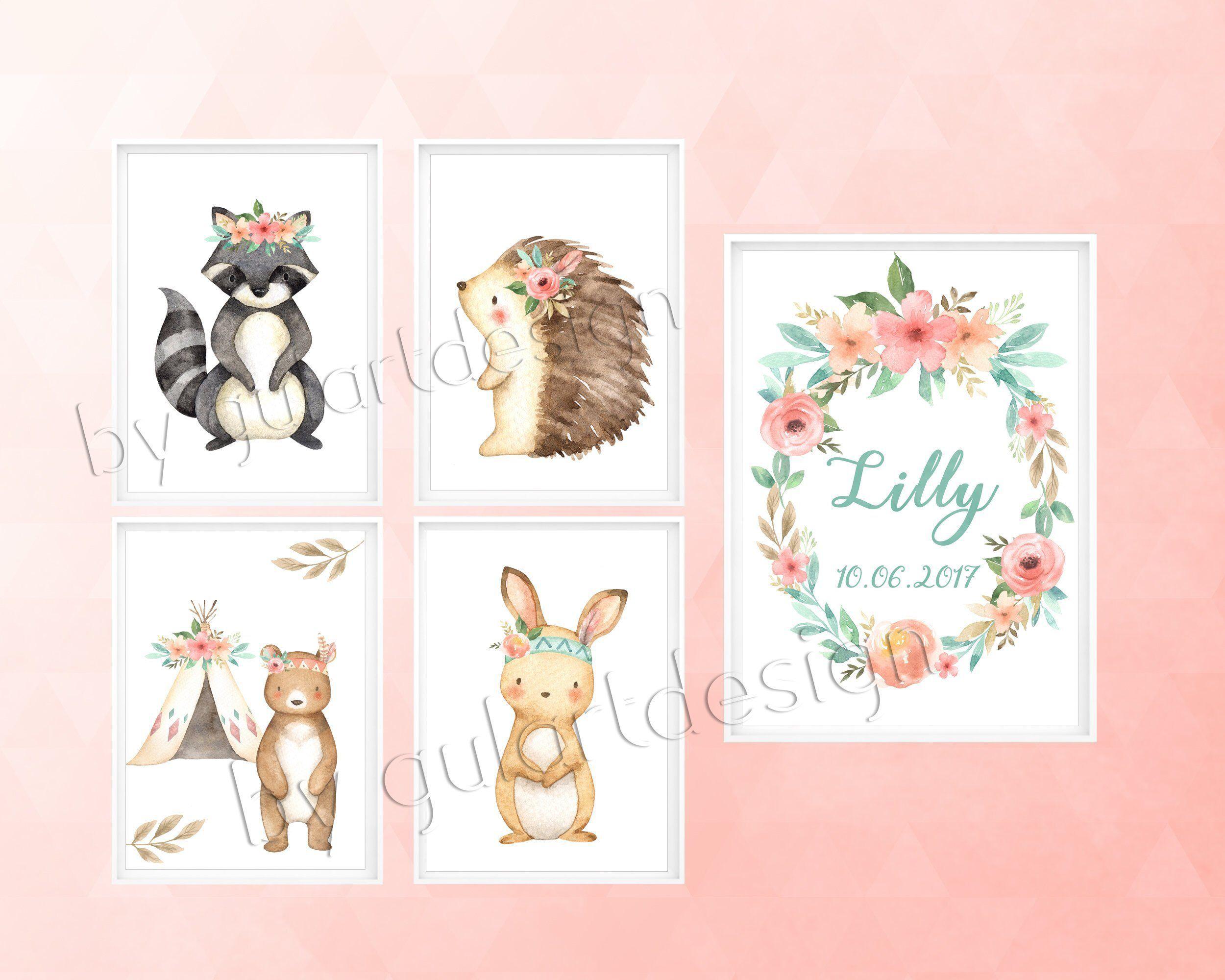 Kinderzimmer Wandbilder, Newborn gift, Nursery wallart
