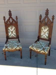 Gothic Revival Chairs Oklahoma City Craigslist Find Furniture Chair Decor