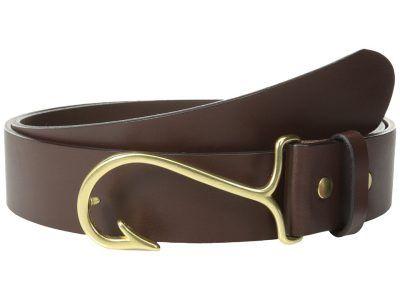 Vineyard Vines - Fish Hook Belt (Dark Brown) Men's Belts
