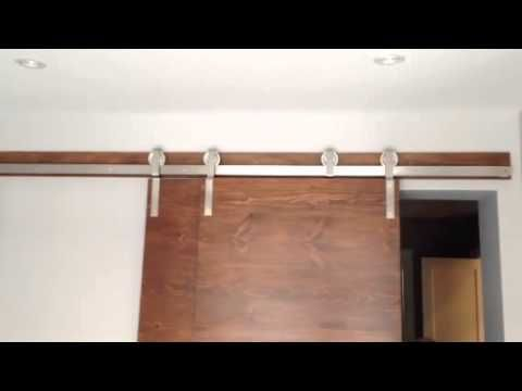Stainless Steel Bypass Barn Door Hardware System In Action Http
