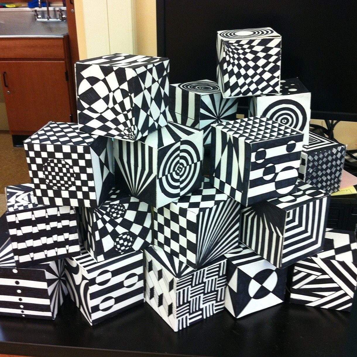Op Art Cube Template