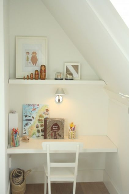 Lighting Basement Washroom Stairs: Built In Desk - Super Simple, Fits Under Stairs