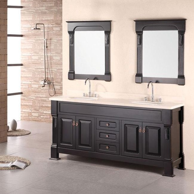 Awesome Websites Design Element Marcos Solid Wood Double Sink Bathroom Vanity by Design Element