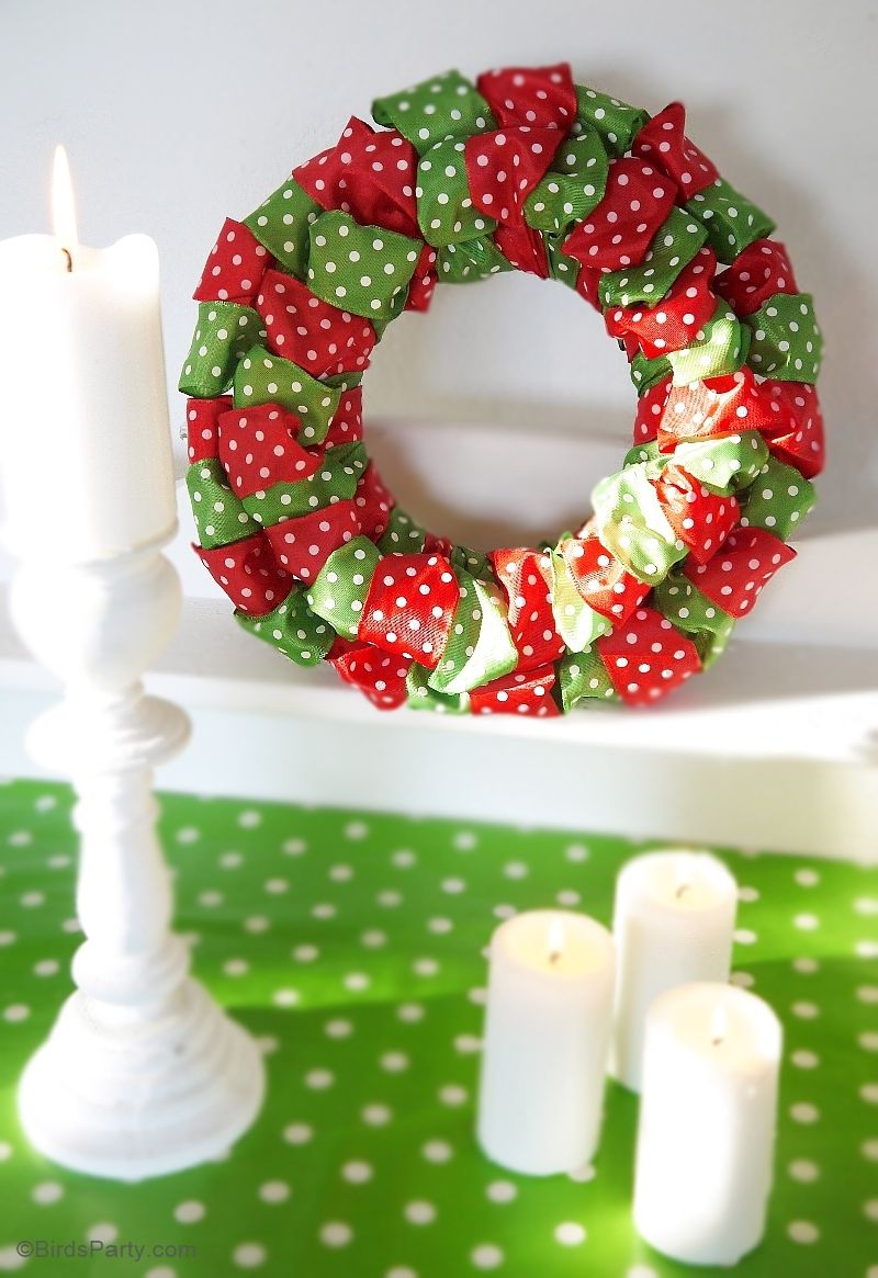 Photo of DIY Easy Christmas Ribbon Wreath