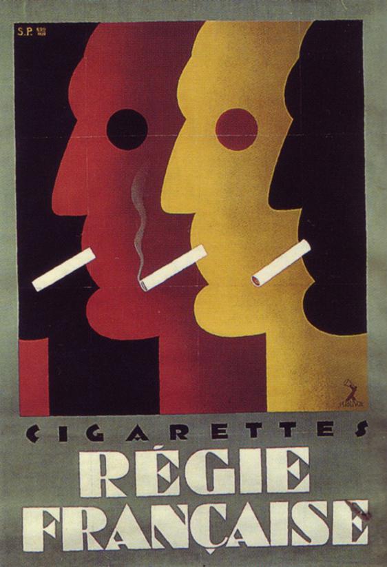 French Poster By Sepo Severo Pozzati Italy 1928 Regie Francaise Cigarettes