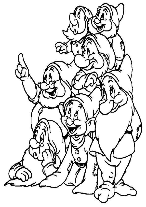 7 Zwerge Ausmalbilder Ausmalen Disney Malvorlagen