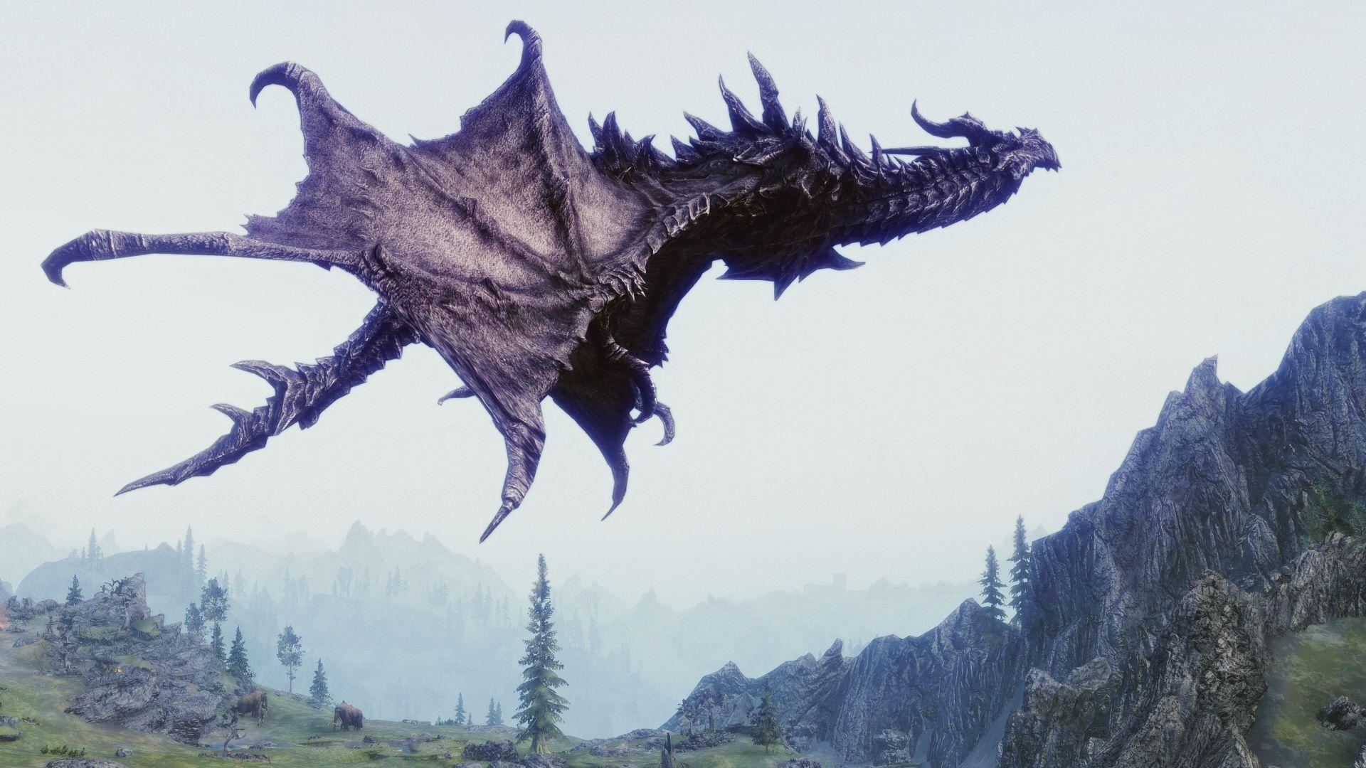 Dragons Uhd At Skyrim Nexus Mods Realistic Dragon Skyrim Nexus Mods Dragon
