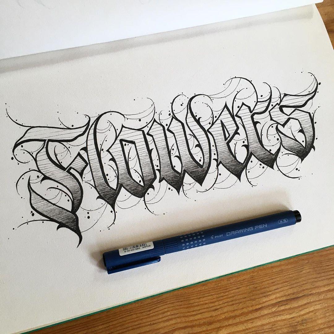 Calligraphie L Espoir Meurt En Dernier Fond Noir Tattoo Alphabet Tatouage Tatouage Lettre Lettrage Graffiti