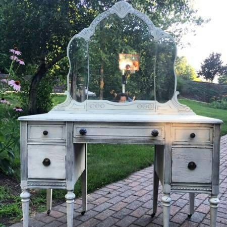 Sold Order One Today Vintage Painted Vanity Table Chair