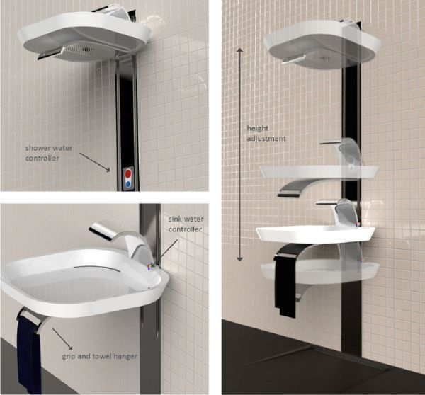 According To The Designer This Inherent Flexibility In Usage Will Be Partly Achieved By The Combination Of Two Toilet Sink Tiny House Bathroom Tiny Bathrooms