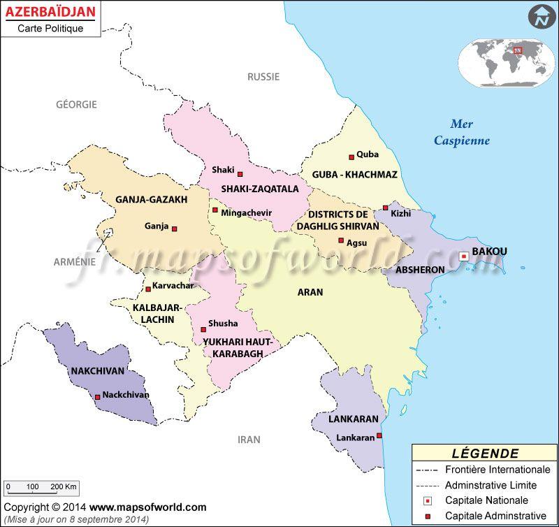 Azerbaidjan Carte Carte Carte Du Monde Geographie