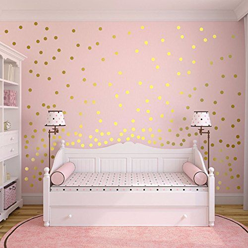 Slivercolor Gold Punkt Aufkleber,Herausnehmbarer Dot Aufkleber,Wandtattoo Punkte für Kinderzimmer Deko, 1,2 Zoll, 216 Punkte - Dekoideen online finden