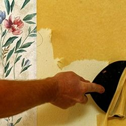 How To Remove Wallpaper Rip The Top Layer Of Paper Off And Wet The Second Layer Let It Soak A Bit Stripped Wallpaper Removable Wallpaper Taking Off Wallpaper