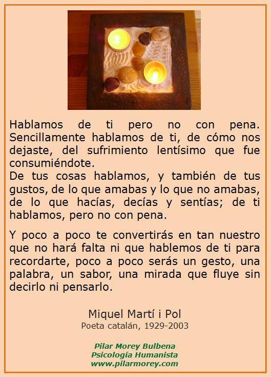 "Miquel Martí i Pol - ""Hablamos de ti"" Poeta catalán, 1929-2003"