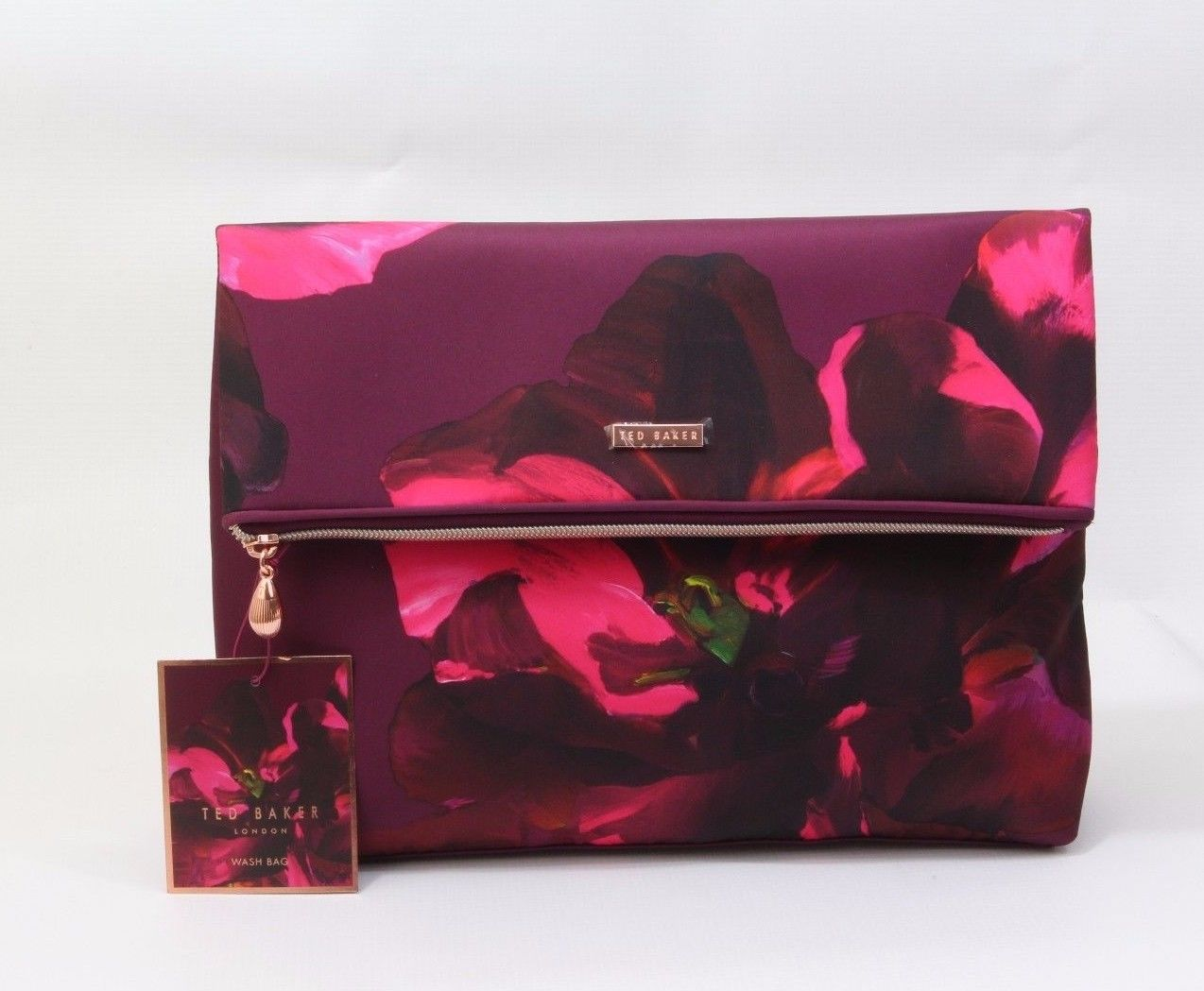 New ted baker make up case cosmetic travel fold over wash