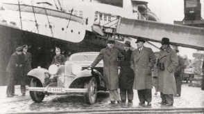 Mercedes-Benz 500 K fra 1935 And  driver Rudolph Caracciola