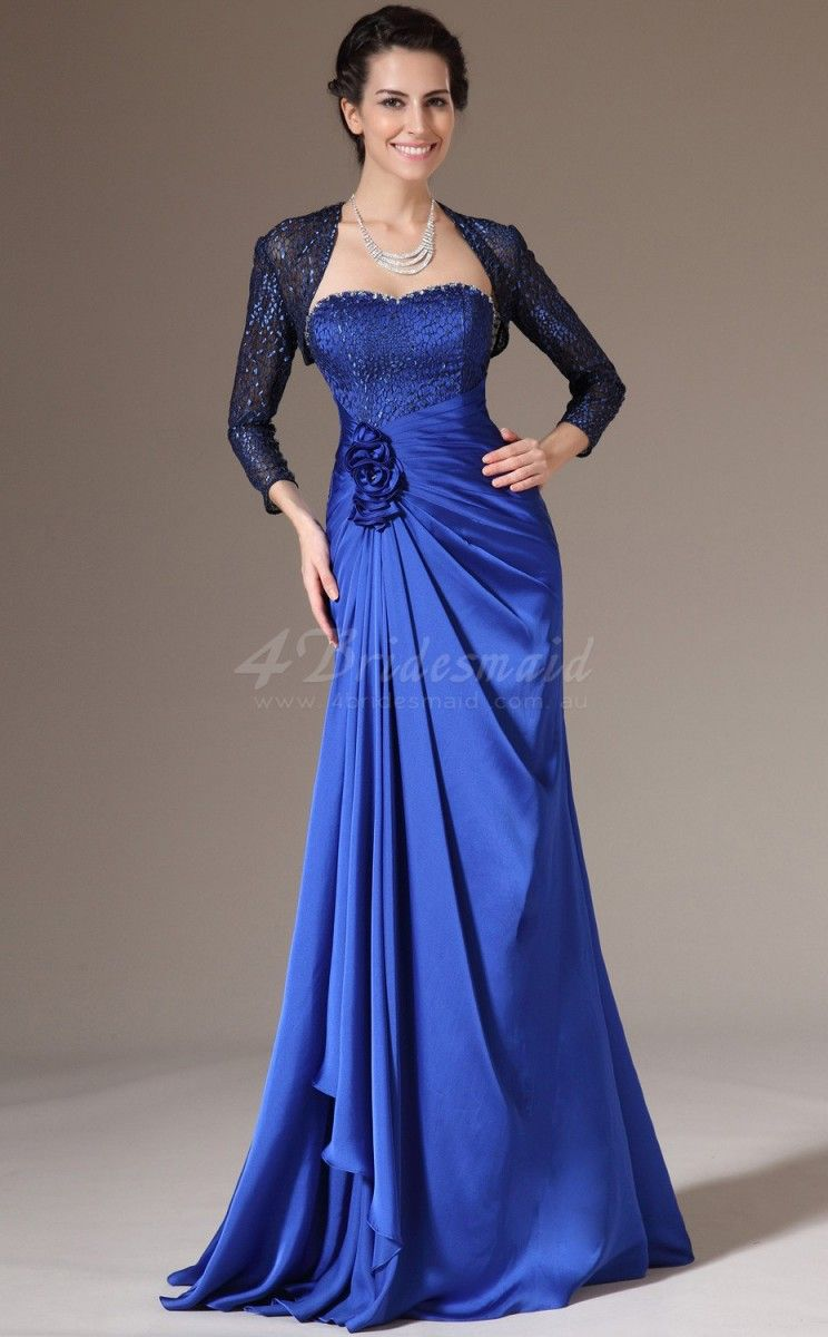 Royal Blue Dresses with Sleeves