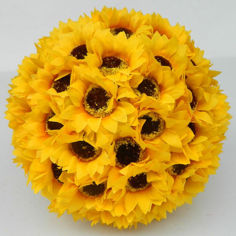 Factory outlet artificial silk flowers sunflower ball centerpieces factory outlet artificial silk flowers sunflower ball centerpieces yellow wedding kissing balls hanging decorative balls junglespirit Images