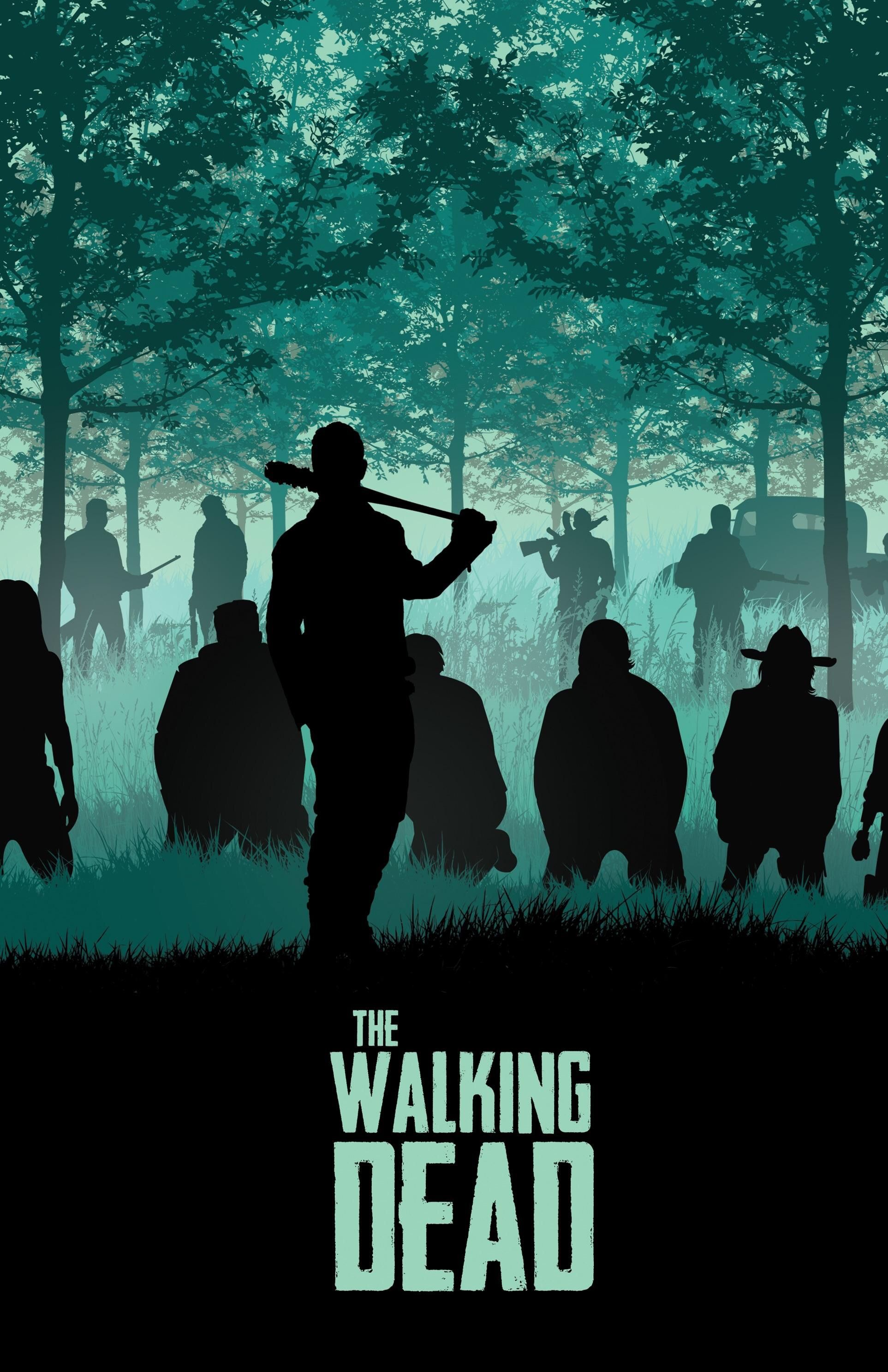 Awesome Negan The Walking Dead Poster Papel De Parede The