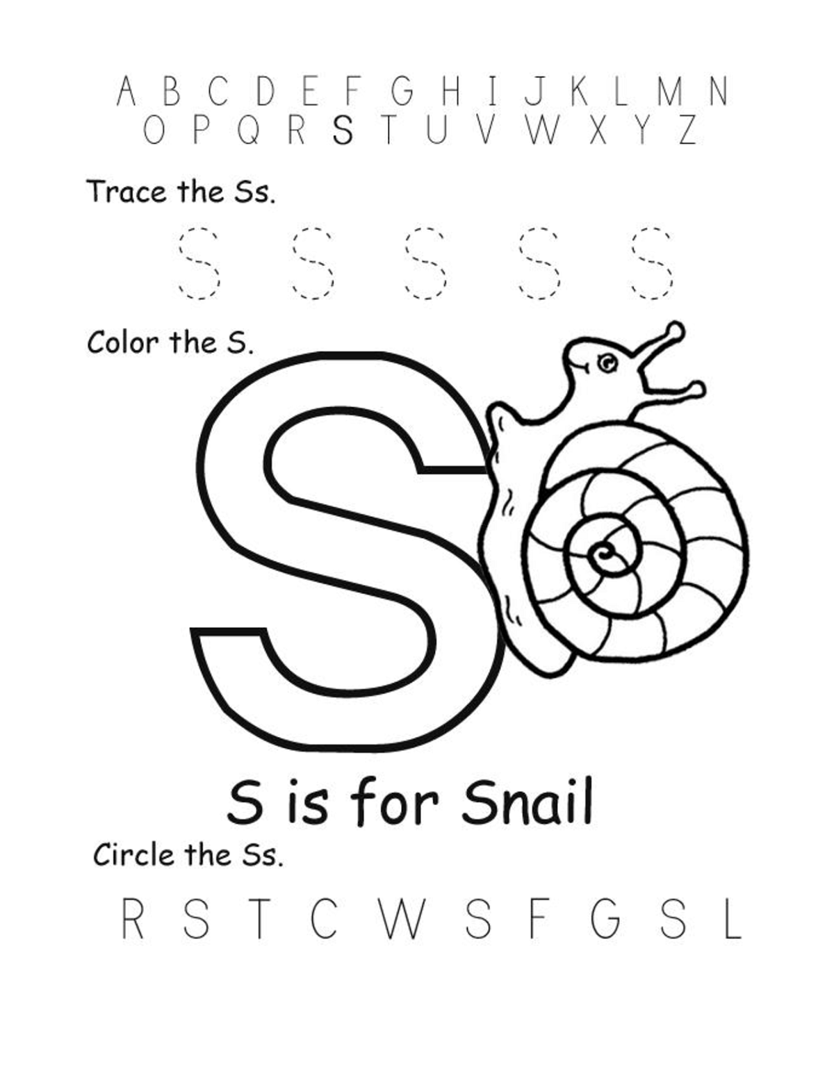 Letter S Worksheets Fun