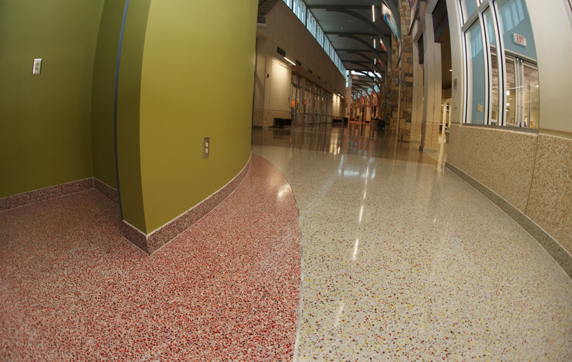 Project Name: Salvation Army Community Center General Contractor: SYS Constructors Architects: Craig, Gaulden & Davis Inc. Read more about this project on the Doyle Dickerson Terrazzo Portfolio page  http://www.doyledickersonterrazzo.com/portfolio/community/salvation-army-community-center/ #terrazzo #flooring #design #contractor #epoxy #terrazzocontractor #recreation #community #salvationarmy