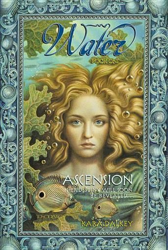 Water #1: Ascension by Kara Dalkey - Nia, a young mermyd of the Bluefin clan, has had one wish all her life -- to be an Avatar in her beloved home of Atlantis. The ten Avatars rule the beautiful and peaceful undersea city alongside the ancient Farworlders, whose magic keeps their world alive. To be an Avatar is an honor and a great responsibility, and Nia dreams of taking her place among the noble ten. #mermaids #teenbooks (Bilbary Town Library: Good for Readers, Good for Libraries)