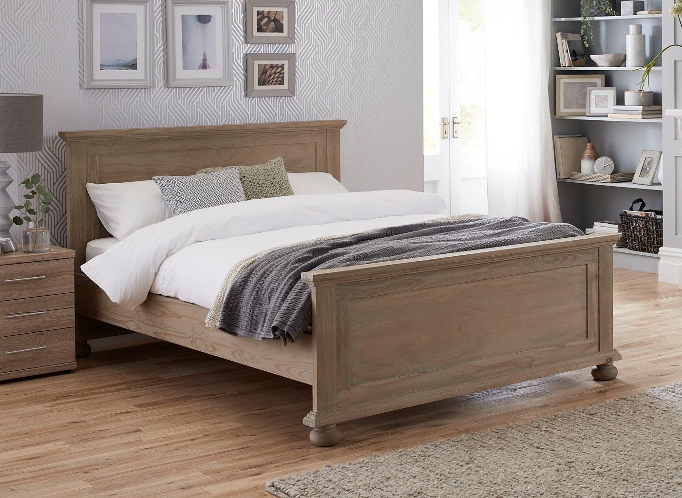 Jameson Natural Pine Wooden Bed Frame 4 6 Double Double Bed