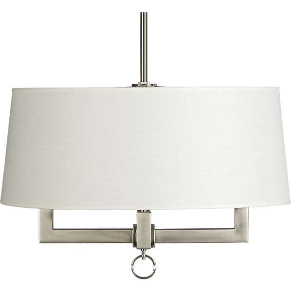 crate and barrel lighting fixtures. Charles Nickel Chandelier In Sale Lighting | Crate And Barrel Fixtures