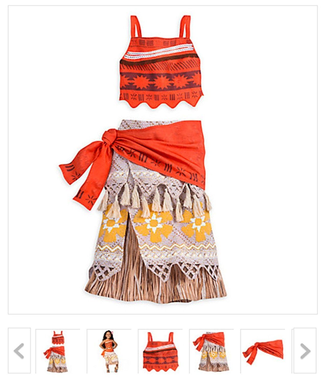 Amazon Com New Disney Store Moana Costume For Girls Size 7 X2f