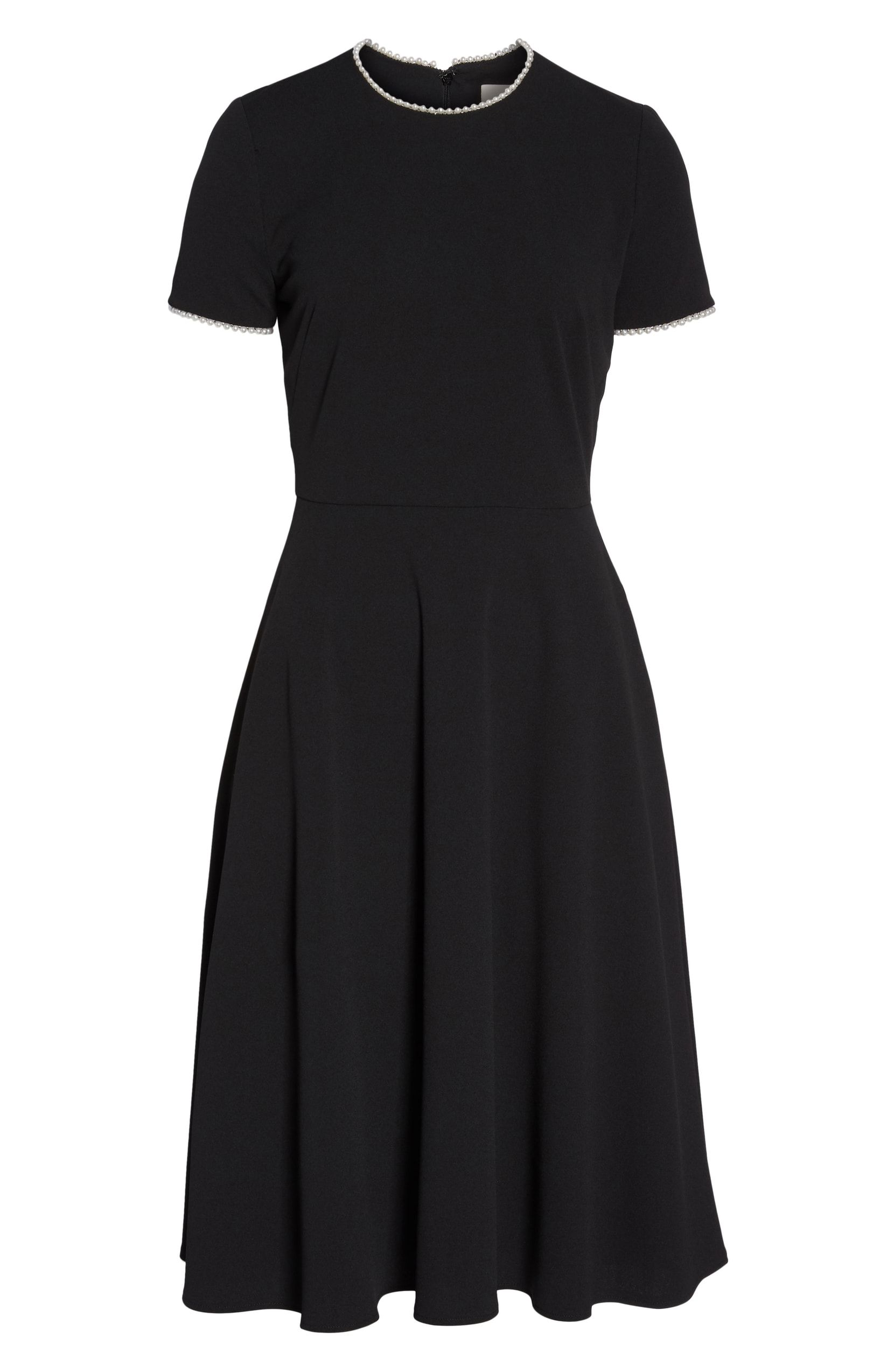 e3d9b74d486b Gal Meets Glam Collection Victoria Pearly Trim Fit   Flare Dress - Black